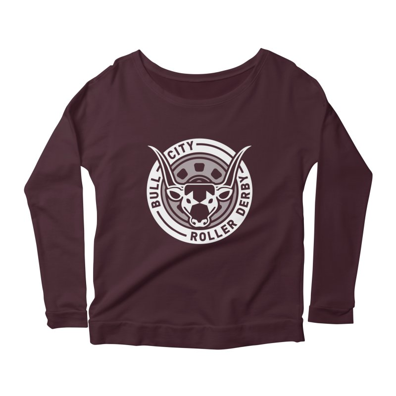 Wheel Badge Women's Longsleeve Scoopneck  by nonnahsonic's Artist Shop