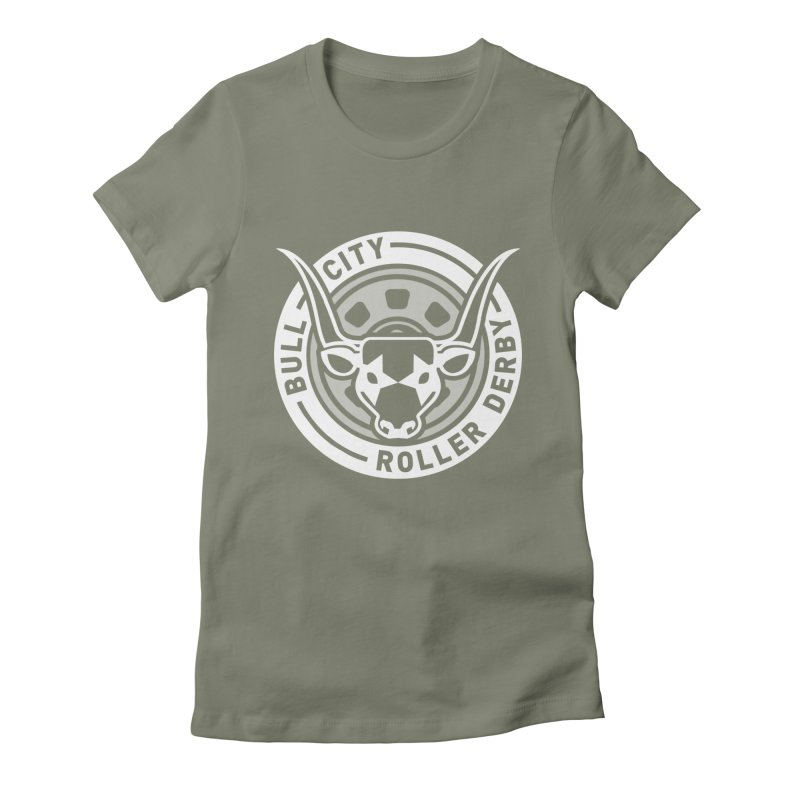 Wheel Badge Women's Fitted T-Shirt by nonnahsonic's Artist Shop
