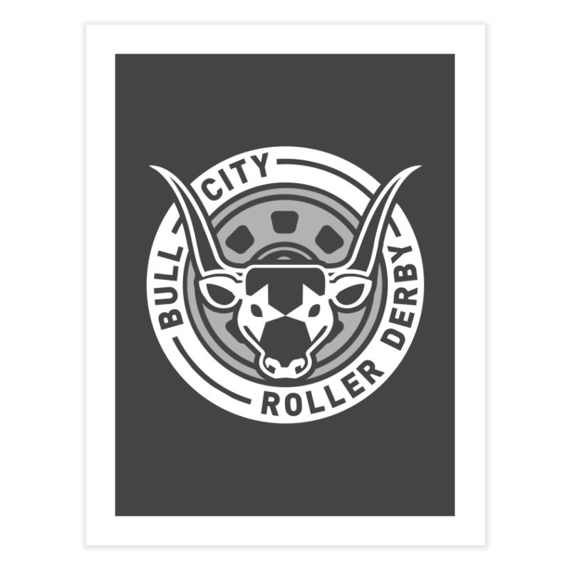 Wheel Badge Home Fine Art Print by Bull City Roller Derby Shop