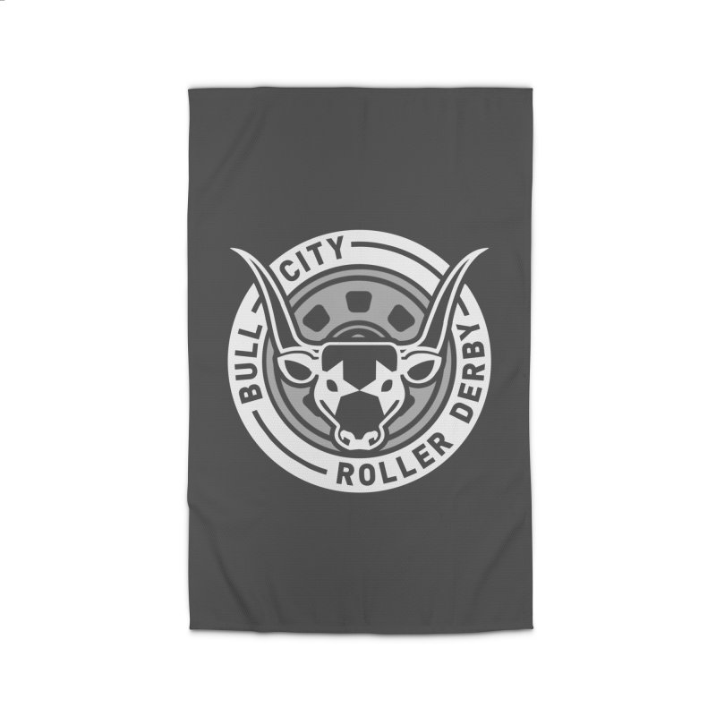 Wheel Badge Home Rug by Bull City Roller Derby Shop