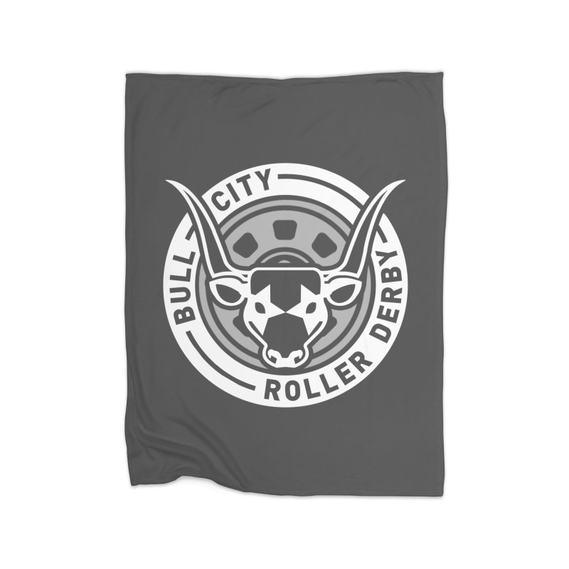 Wheel Badge Home Fleece Blanket Blanket by Bull City Roller Derby Shop
