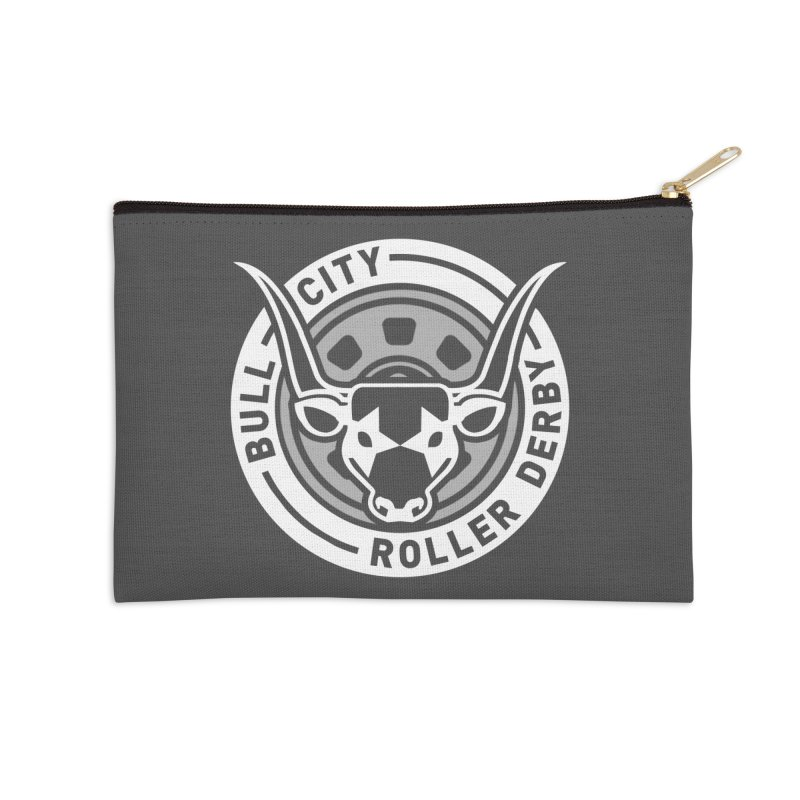 Wheel Badge Accessories Zip Pouch by Bull City Roller Derby Shop