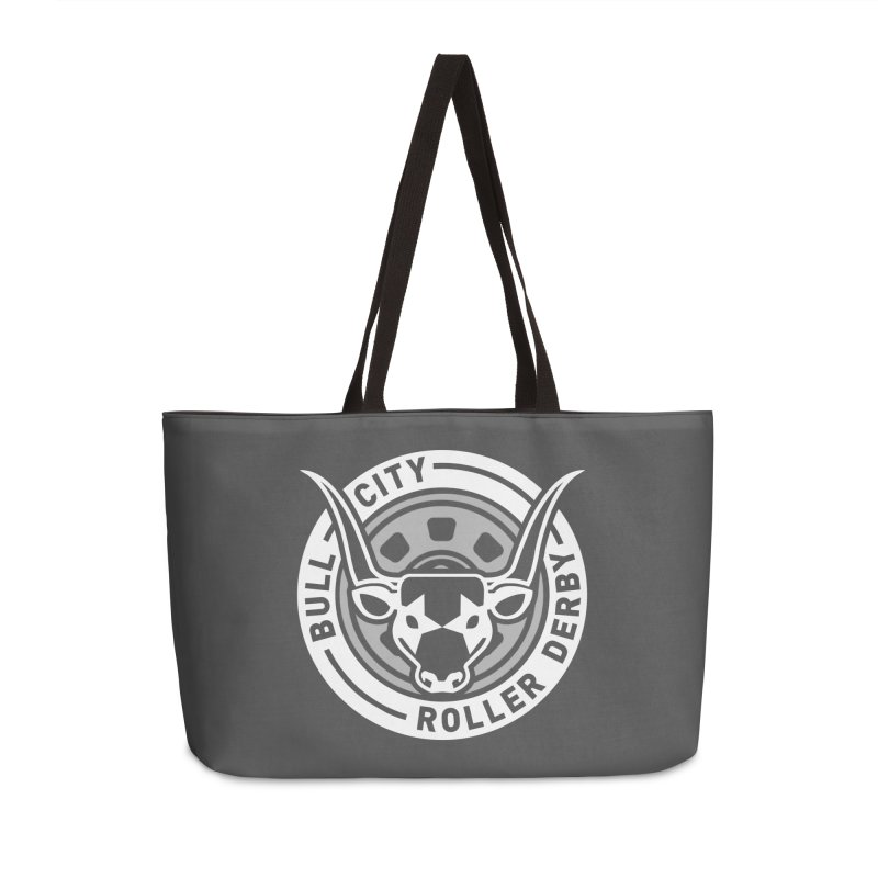 Wheel Badge Accessories Weekender Bag Bag by Bull City Roller Derby Shop
