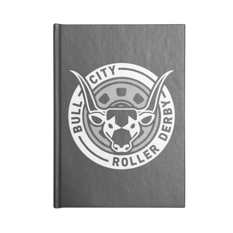Wheel Badge Accessories Lined Journal Notebook by Bull City Roller Derby Shop