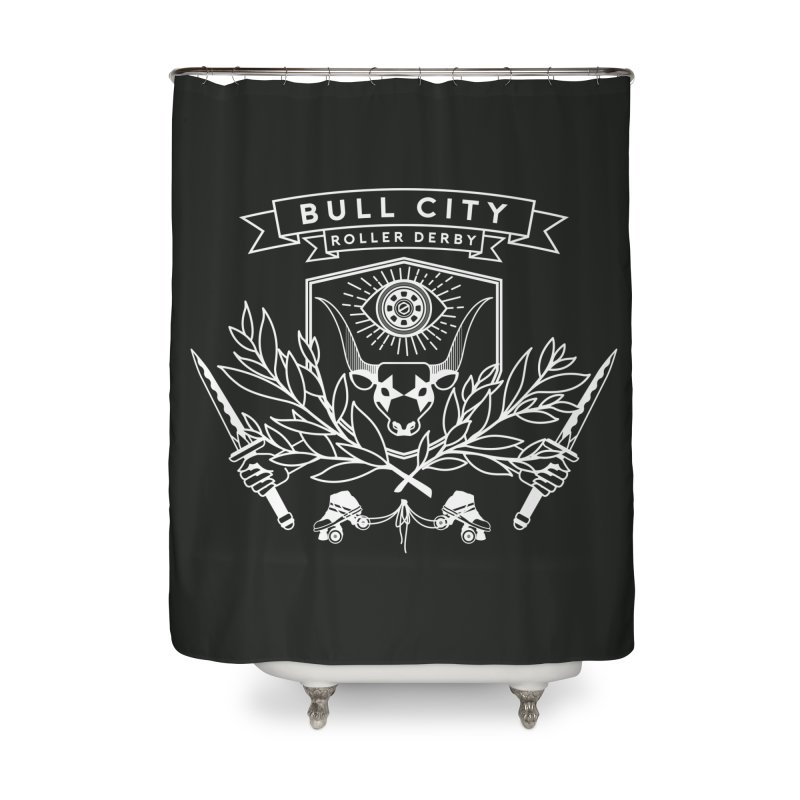 Bull City Roller Derby Home Shower Curtain by nonnahsonic's Artist Shop