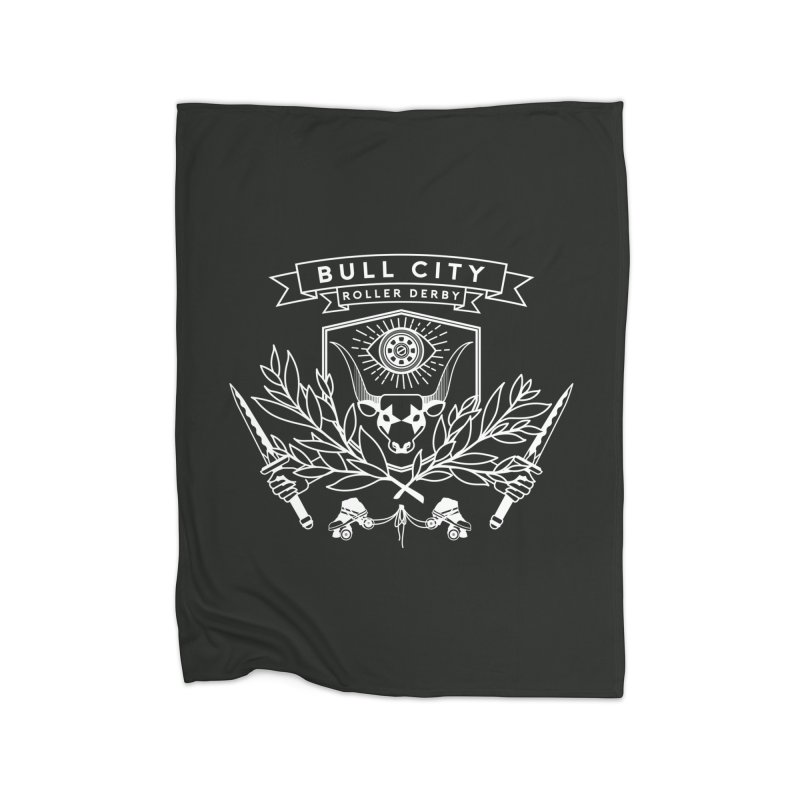 Bull City Roller Derby Home Fleece Blanket Blanket by Bull City Roller Derby Shop