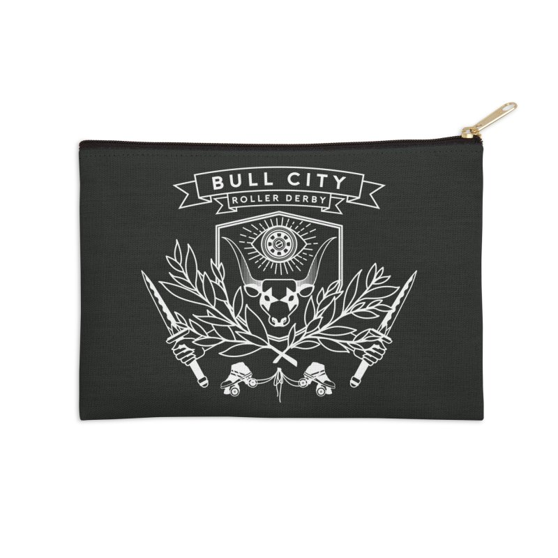 Bull City Roller Derby Accessories Zip Pouch by Bull City Roller Derby Shop