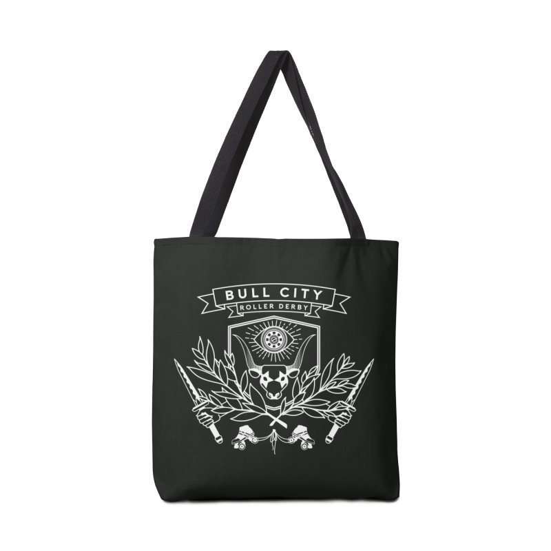 Bull City Roller Derby Accessories Tote Bag Bag by Bull City Roller Derby Shop
