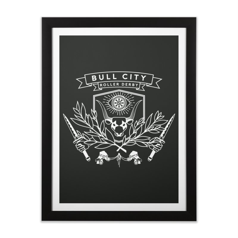 Bull City Roller Derby Home Framed Fine Art Print by Bull City Roller Derby Shop