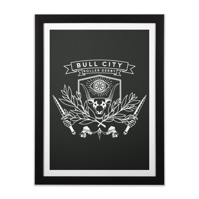 Bull City Roller Derby Home Framed Fine Art Print by nonnahsonic's Artist Shop