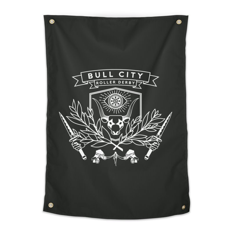 Bull City Roller Derby Home Tapestry by nonnahsonic's Artist Shop