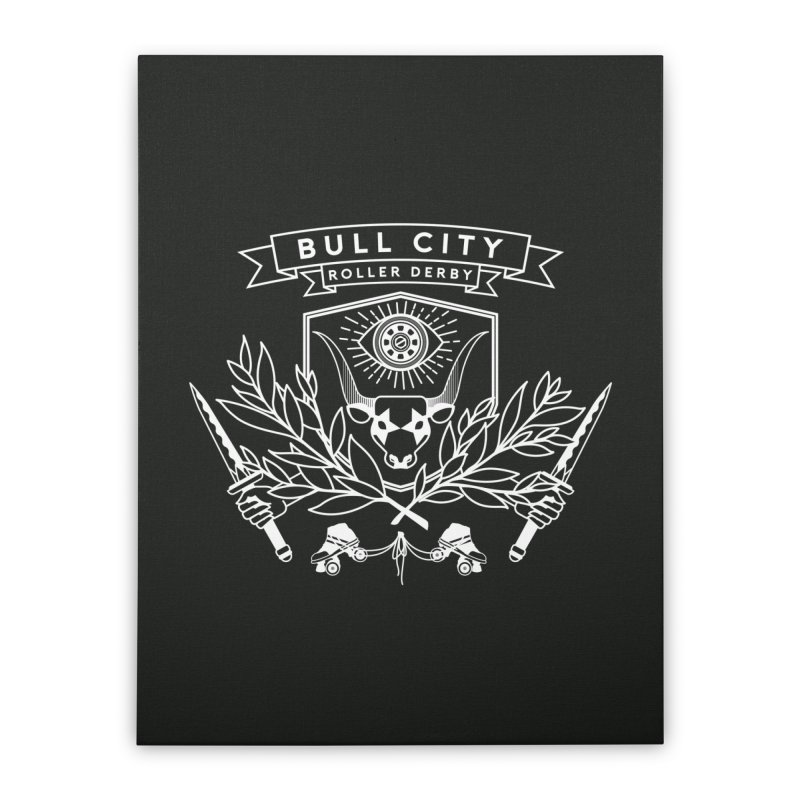 Bull City Roller Derby Home Stretched Canvas by Bull City Roller Derby Shop