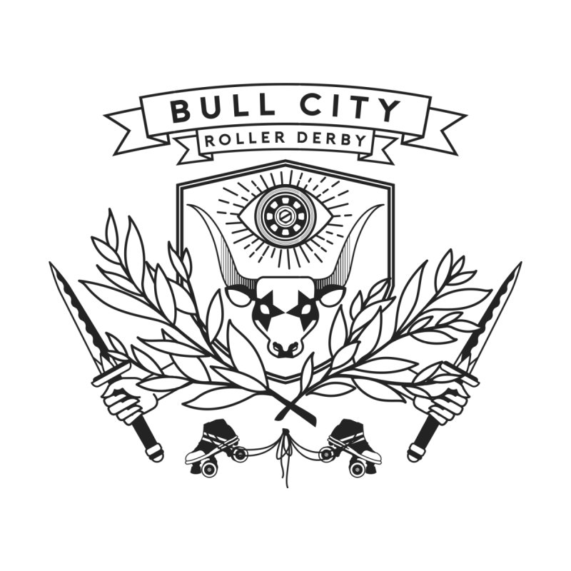 Bull City Roller Derby- Reverse Home Blanket by Bull City Roller Derby Shop