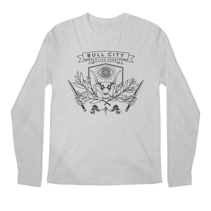 Bull City Roller Derby- Reverse Men's Regular Longsleeve T-Shirt by Bull City Roller Derby Shop