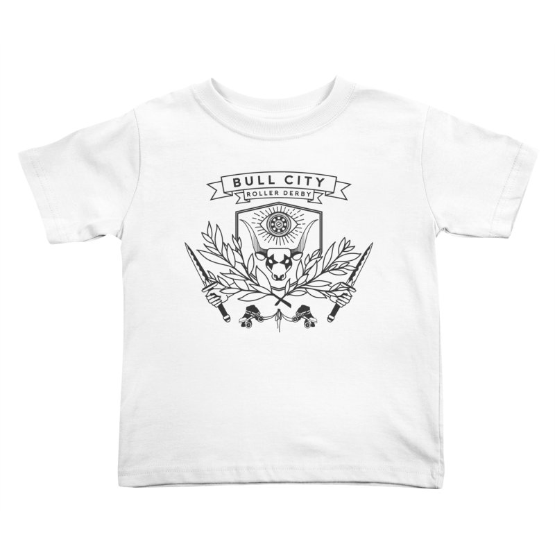 Bull City Roller Derby- Reverse Kids Toddler T-Shirt by Bull City Roller Derby Shop