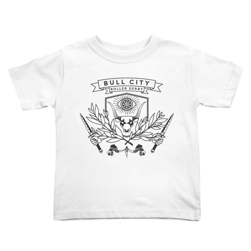 Bull City Roller Derby- Reverse Kids Toddler T-Shirt by Bull City Roller Derby Shop