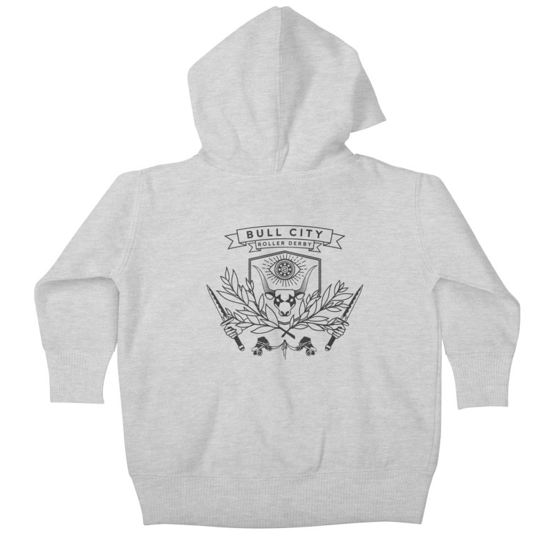 Bull City Roller Derby- Reverse Kids Baby Zip-Up Hoody by Bull City Roller Derby Shop