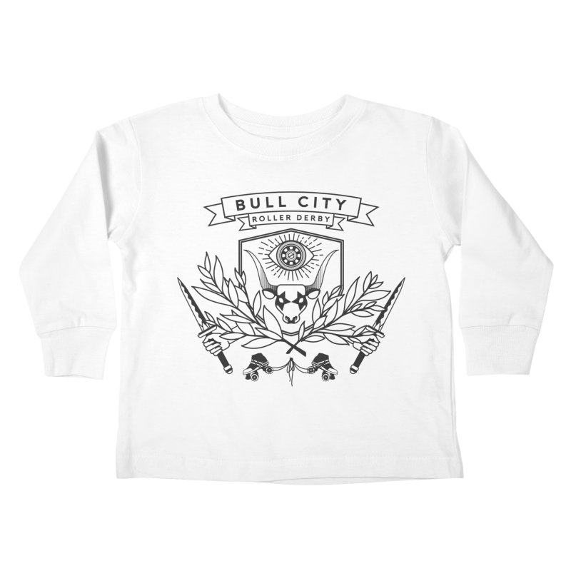 Bull City Roller Derby- Reverse Kids Toddler Longsleeve T-Shirt by Bull City Roller Derby Shop