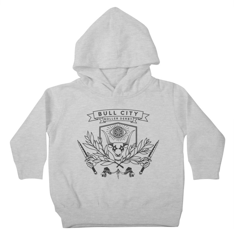 Bull City Roller Derby- Reverse Kids Toddler Pullover Hoody by Bull City Roller Derby Shop
