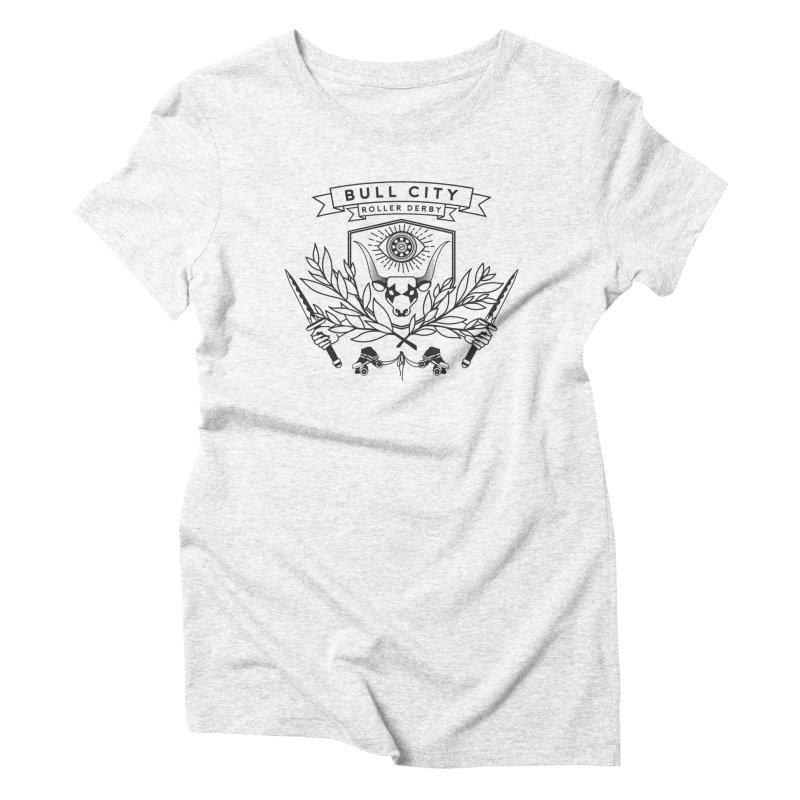 Bull City Roller Derby- Reverse Women's Triblend T-shirt by nonnahsonic's Artist Shop