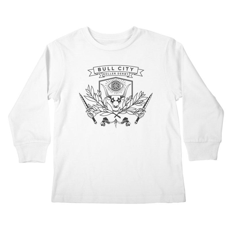 Bull City Roller Derby- Reverse Kids Longsleeve T-Shirt by Bull City Roller Derby Shop