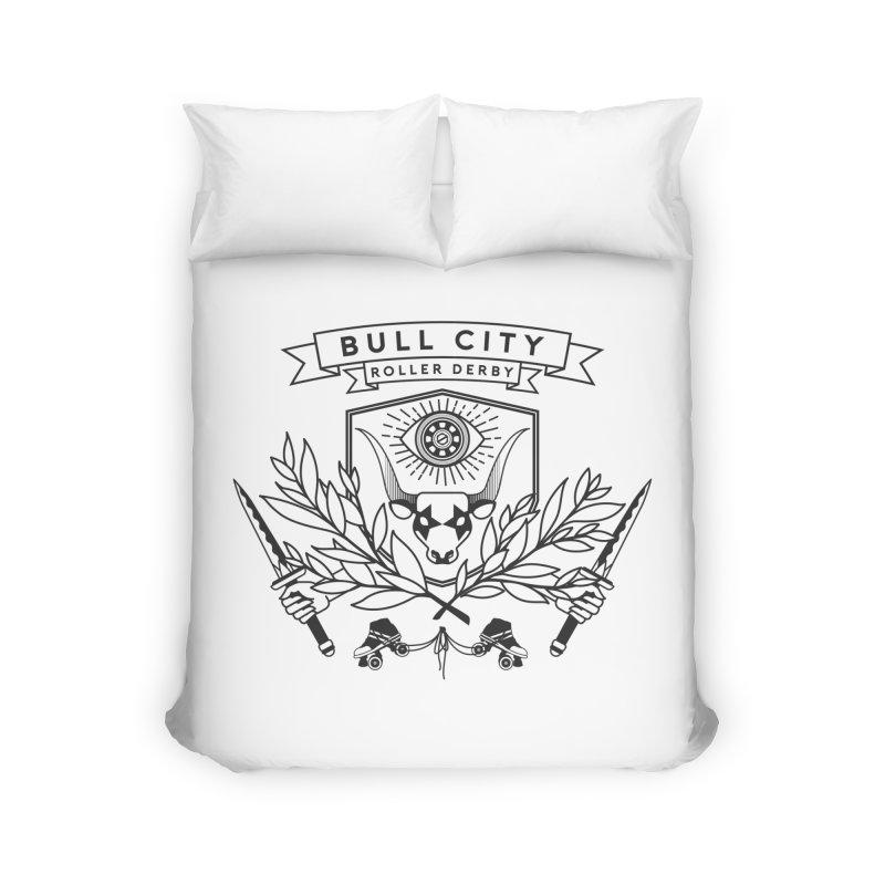 Bull City Roller Derby- Reverse Home Duvet by Bull City Roller Derby Shop