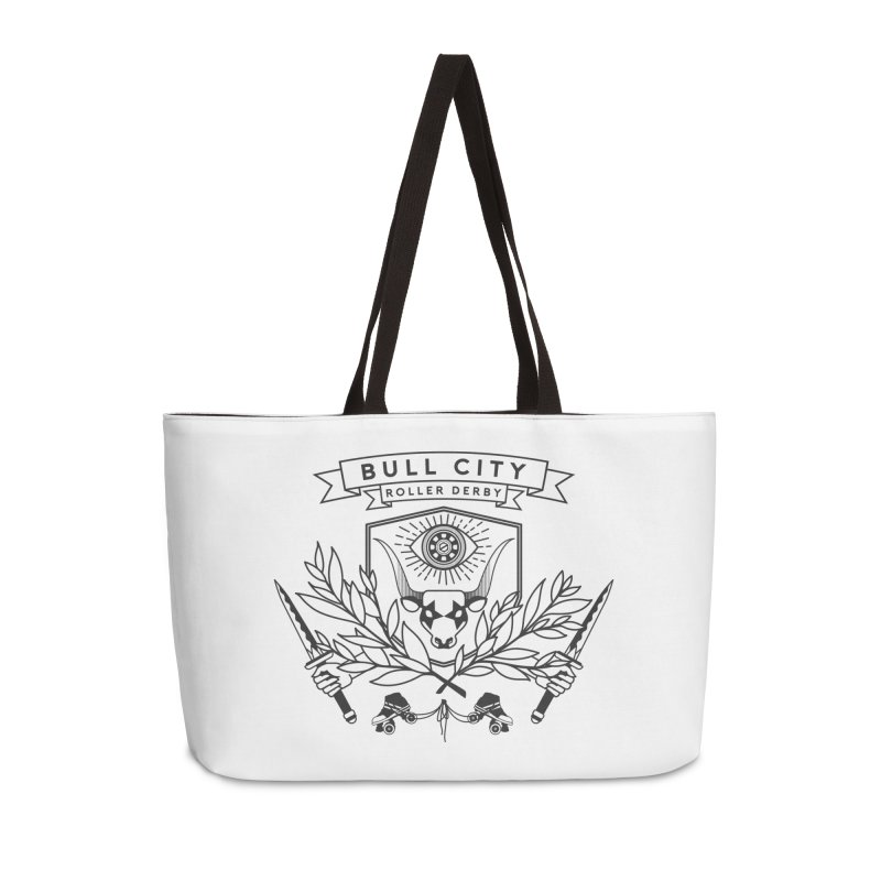Bull City Roller Derby- Reverse Accessories Weekender Bag Bag by Bull City Roller Derby Shop