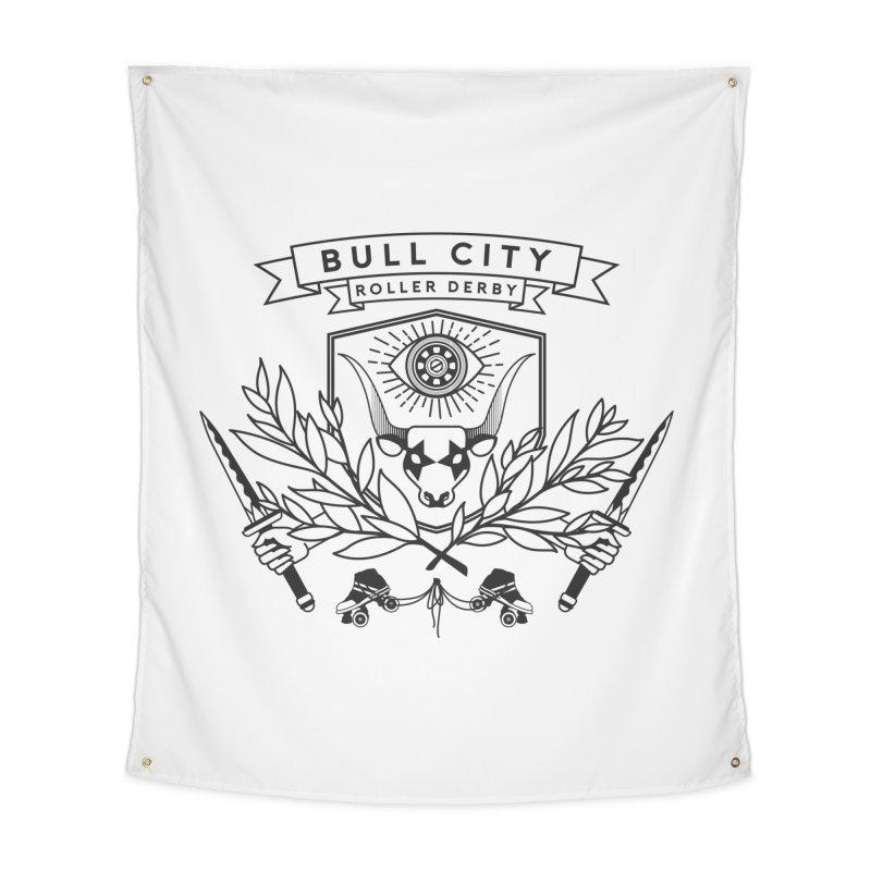 Bull City Roller Derby- Reverse Home Tapestry by Bull City Roller Derby Shop