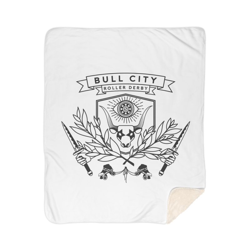 Bull City Roller Derby- Reverse Home Sherpa Blanket Blanket by Bull City Roller Derby Shop