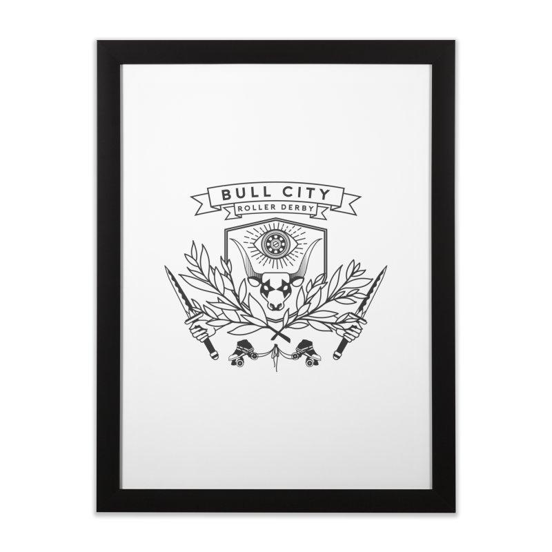 Bull City Roller Derby- Reverse Home Framed Fine Art Print by Bull City Roller Derby Shop