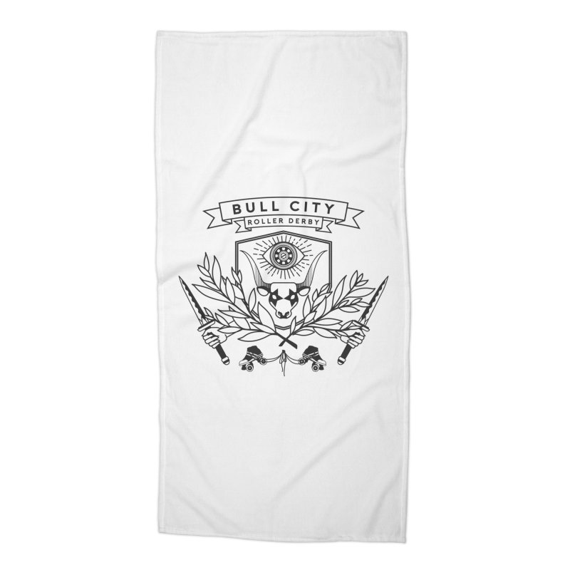 Bull City Roller Derby- Reverse Accessories Beach Towel by Bull City Roller Derby Shop