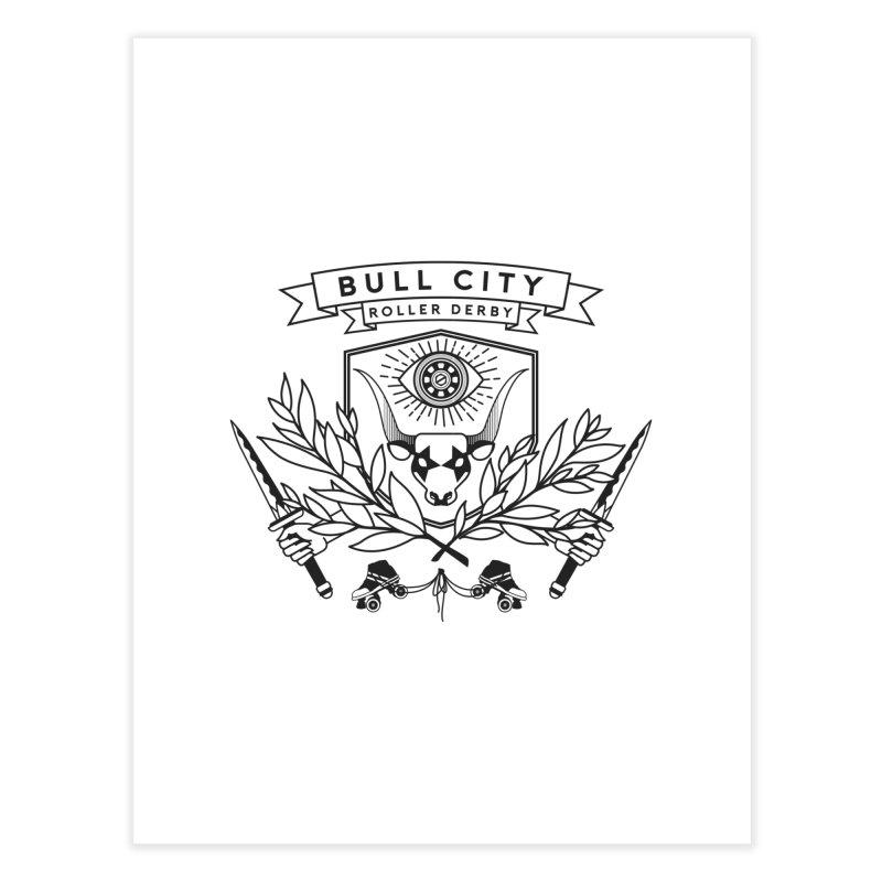 Bull City Roller Derby- Reverse Home Fine Art Print by Bull City Roller Derby Shop