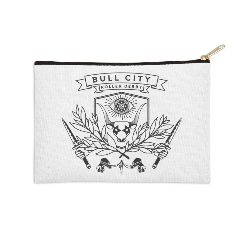 Bull City Roller Derby- Reverse Accessories Zip Pouch by Bull City Roller Derby Shop