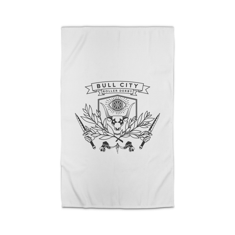 Bull City Roller Derby- Reverse Home Rug by Bull City Roller Derby Shop