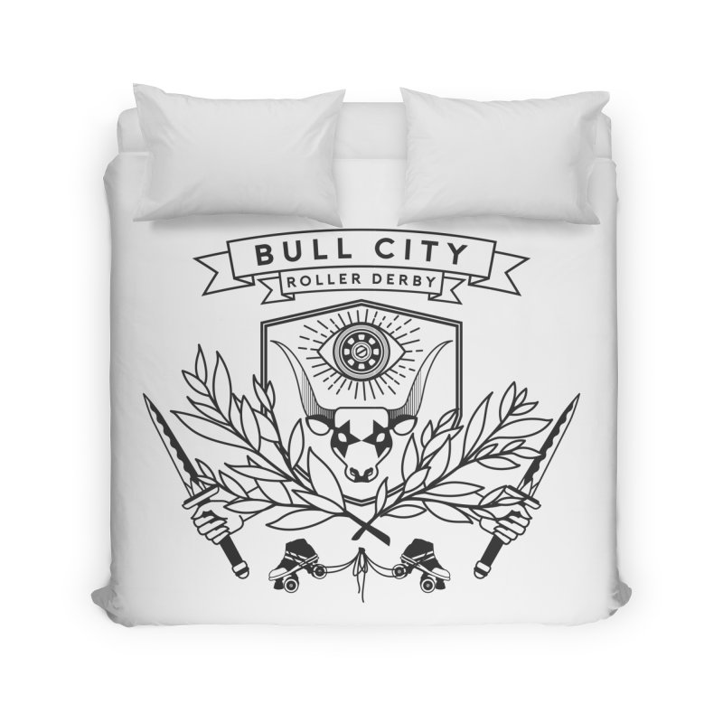 Bull City Roller Derby- Reverse Home Duvet by Bull City Roller Derby Shop