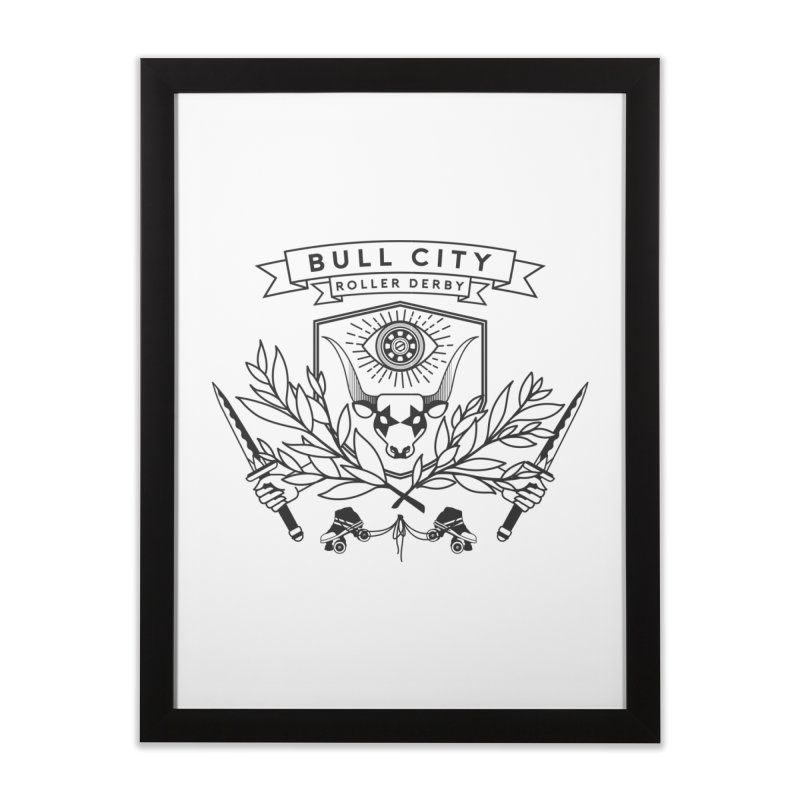 Bull City Roller Derby- Reverse Home Framed Fine Art Print by Bull City Roller Derby Shop