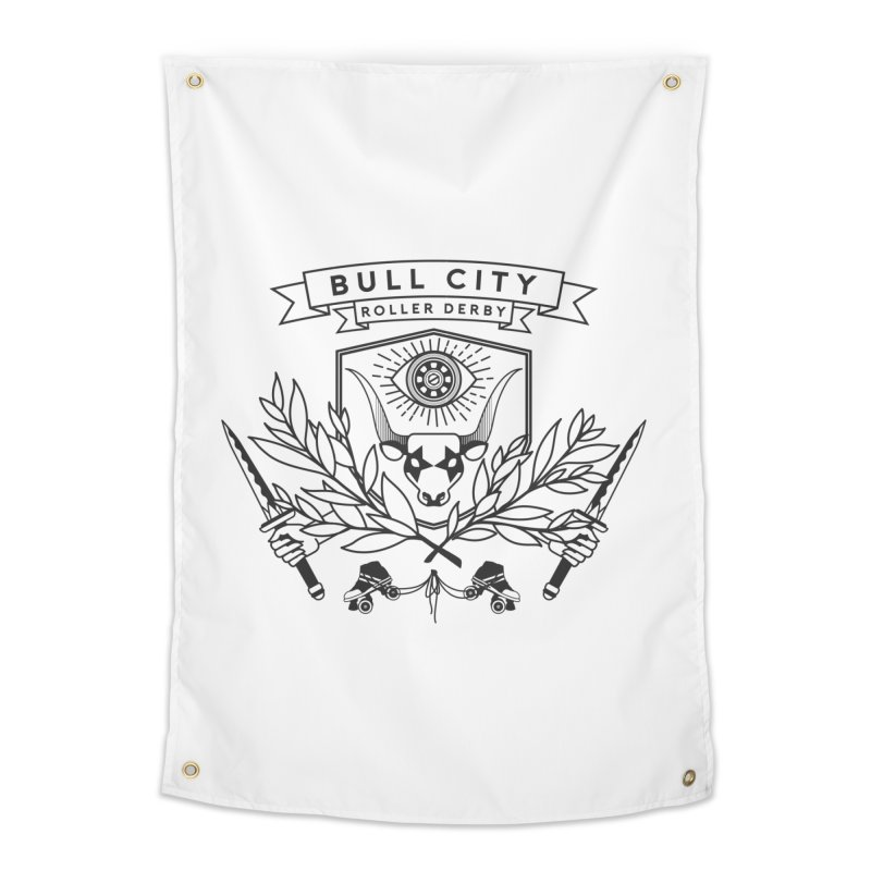 Bull City Roller Derby- Reverse Home Tapestry by Bull City Roller Derby Shop