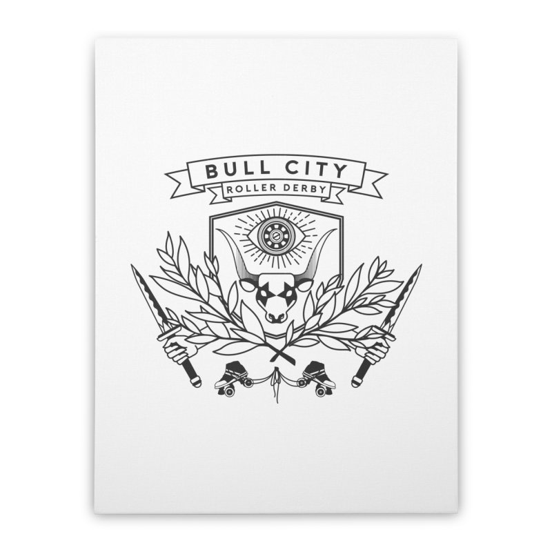 Bull City Roller Derby- Reverse Home Stretched Canvas by Bull City Roller Derby Shop