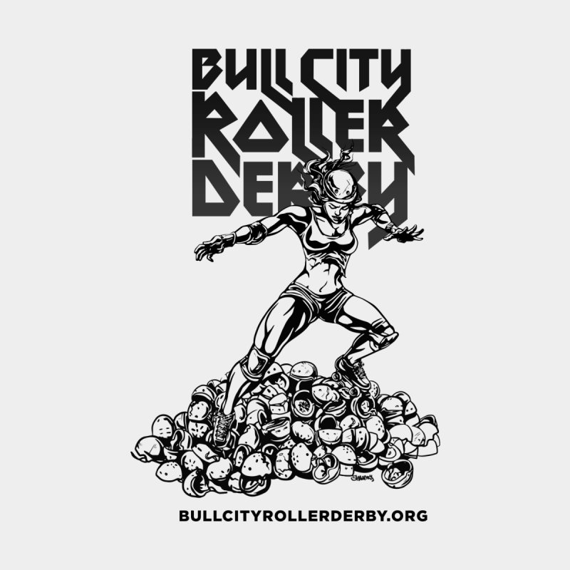 Bull City- HEAVY METAL Home Fine Art Print by Bull City Roller Derby Shop