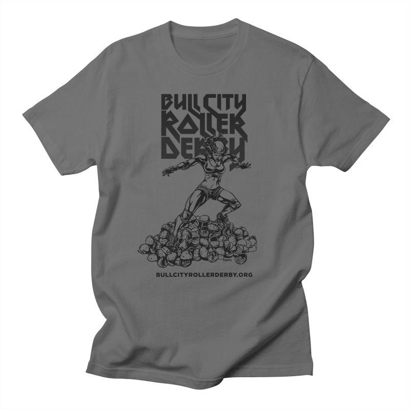 Bull City- HEAVY METAL Men's T-Shirt by Bull City Roller Derby Shop