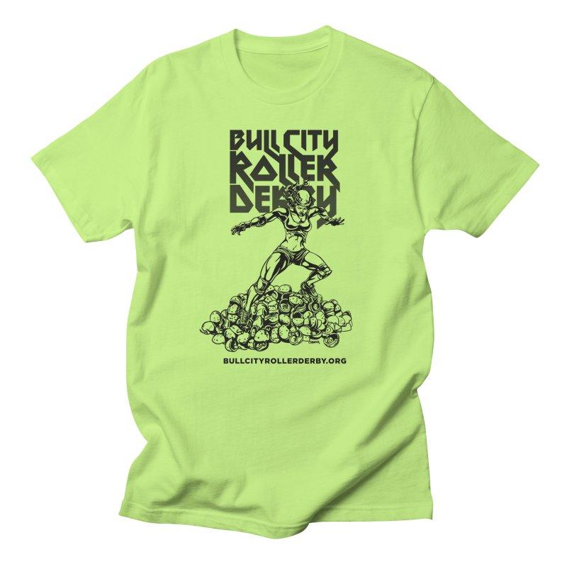 Bull City- HEAVY METAL Men's Regular T-Shirt by Bull City Roller Derby Shop