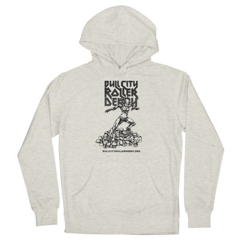 Bull City- HEAVY METAL Men's Pullover Hoody by Bull City Roller Derby Shop