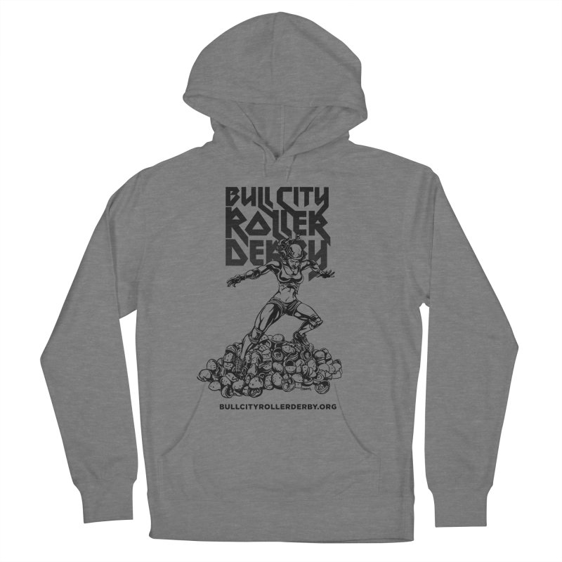 Bull City- HEAVY METAL Women's Pullover Hoody by Bull City Roller Derby Shop