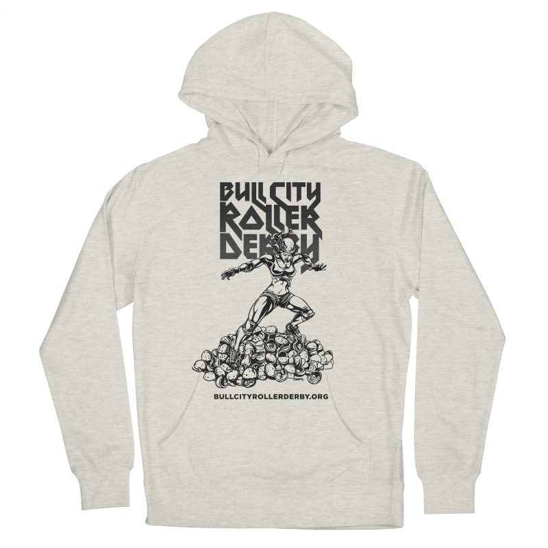 Bull City- HEAVY METAL Men's French Terry Pullover Hoody by Bull City Roller Derby Shop