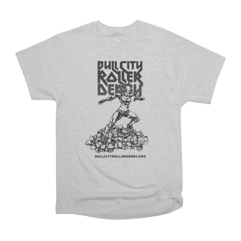 Bull City- HEAVY METAL Men's Heavyweight T-Shirt by Bull City Roller Derby Shop