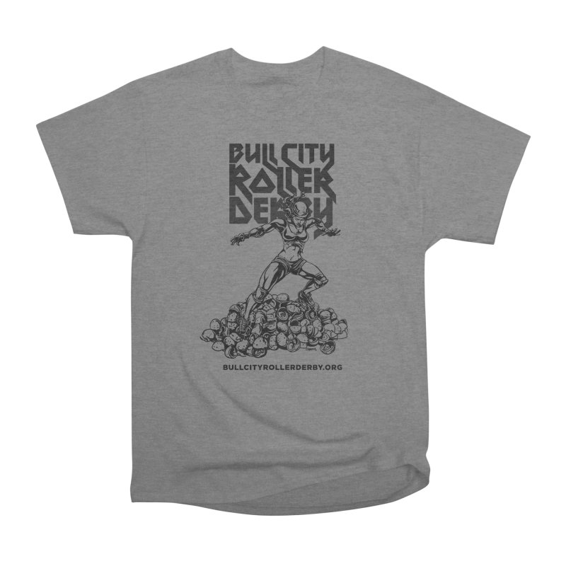 Bull City- HEAVY METAL Men's T-Shirt by Bull City Roller Derby Shop
