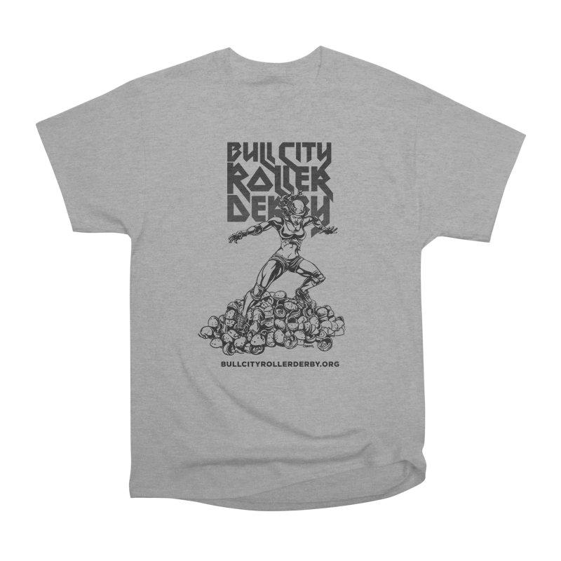 Bull City- HEAVY METAL Men's Heavyweight T-Shirt by Bull City Roller Derby Shop