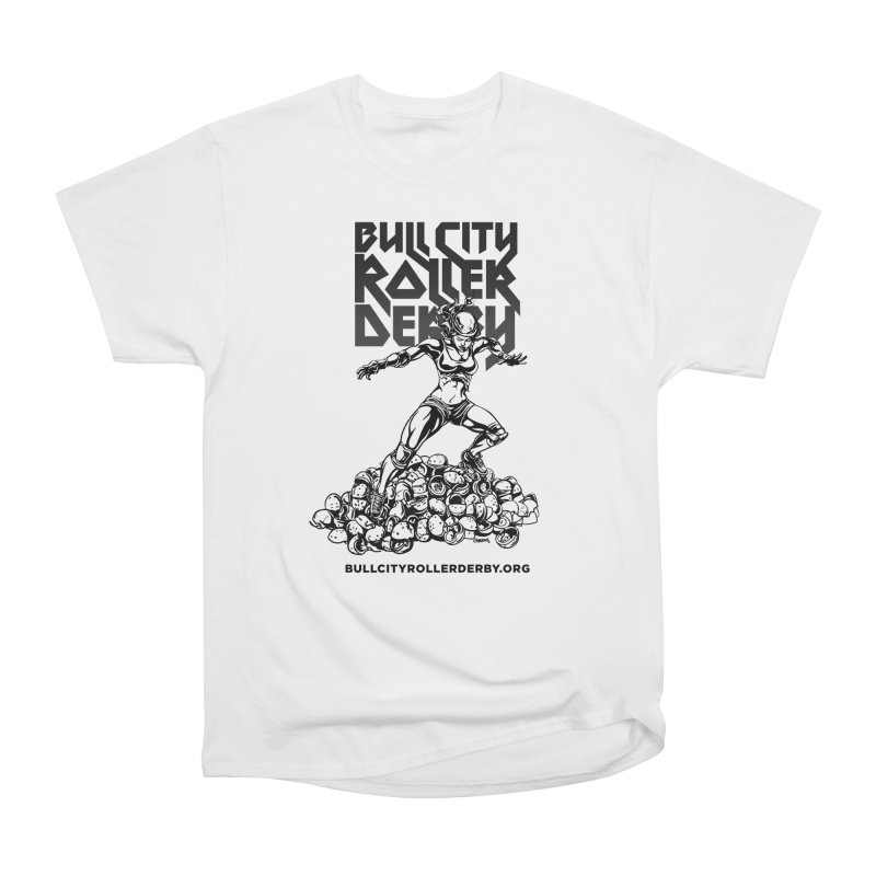 Bull City- HEAVY METAL Women's Heavyweight Unisex T-Shirt by Bull City Roller Derby Shop