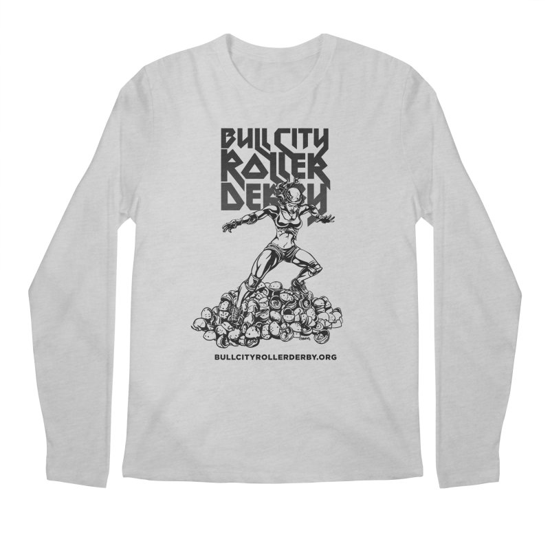 Bull City- HEAVY METAL Men's Regular Longsleeve T-Shirt by Bull City Roller Derby Shop