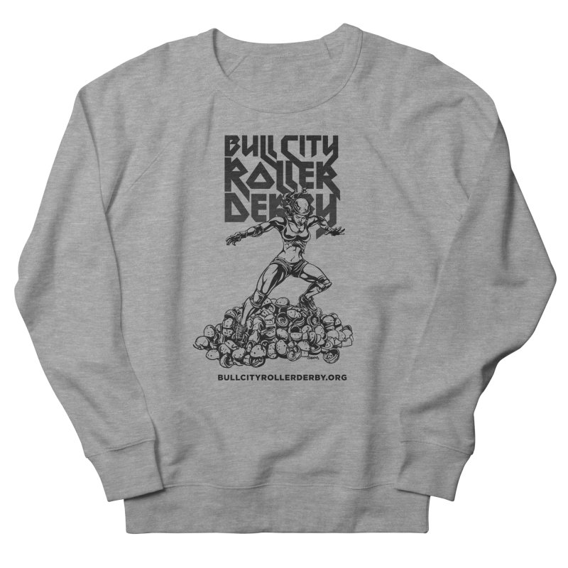 Bull City- HEAVY METAL Men's French Terry Sweatshirt by Bull City Roller Derby Shop